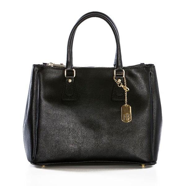 Kožená kabelka Ano Black