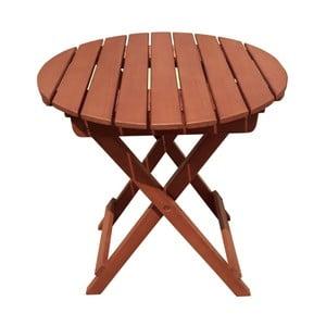 Záhradný skladací odkladací stolík z eukalyptového dreva ADDU Hanford