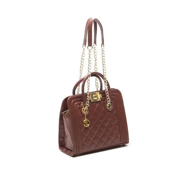 Kožená kabelka Anna Luchini 2119 Marrone