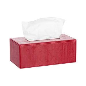 Koženkový box na vreckovky Red