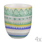 Sada 4 porcelánových šálok na espresso Oilily 80 ml, zelená