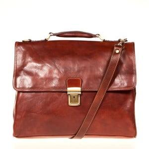 Hnedá kožená taška cez rameno Italia in Progress Federico