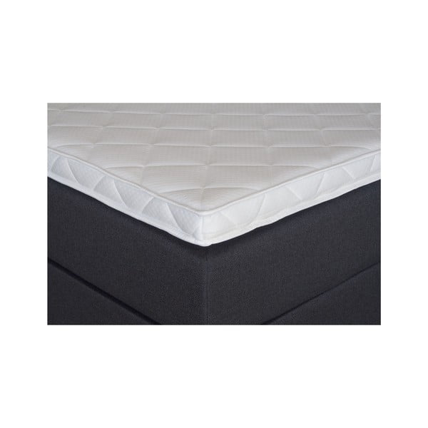 Čierna posteľ s matracom Gemega Jolly, 140x200 cm