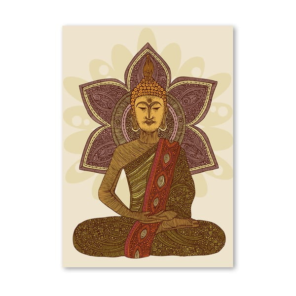 Autorský plagát Sitting Buddha od Valentiny Ramos