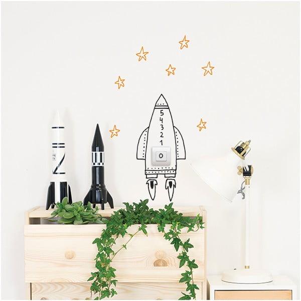 Dekoratívna samolepka na stenu Switch Rocket