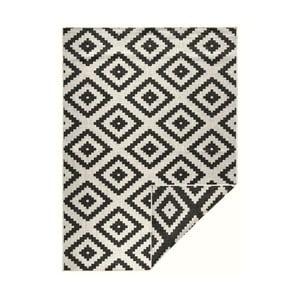 Čierno-krémový vzorovaný obojstranný koberec Bougari Malta, 200×290 cm