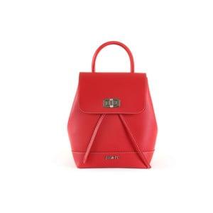 Červený batoh z eko kože Beverly Hills Polo Club Polly
