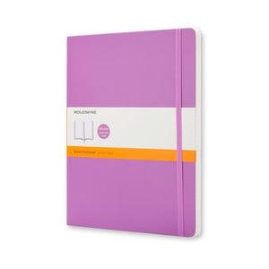 Fialový zápisník Moleskline Soft, XL, linkovaný