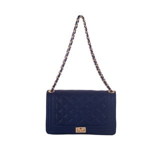 Modrá kabelka z pravej kože Andrea Cardone Debora