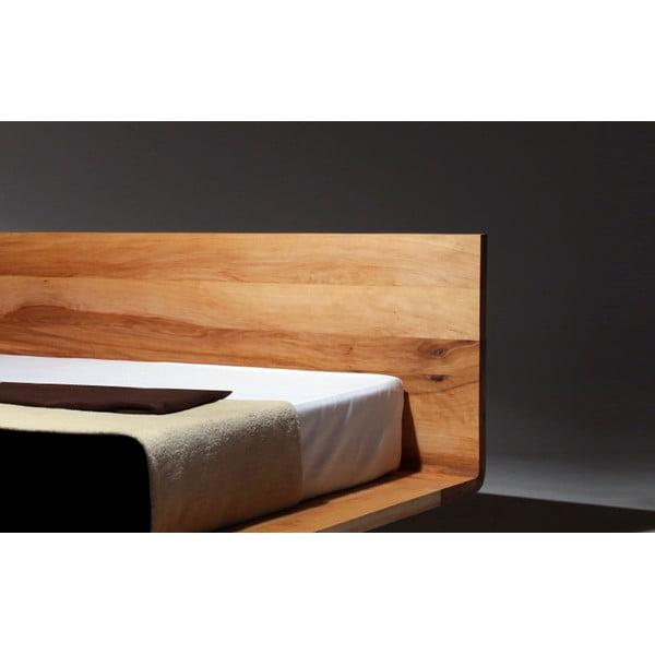 Posteľ Mazzivo Mood z jelšového dreva napusteného ľanovým olejom, 140x200cm
