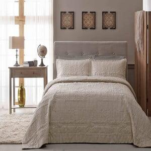 Sada prikrývky a obliečky na vankúš TAC Sweet Dreams Beige, 180x240 cm