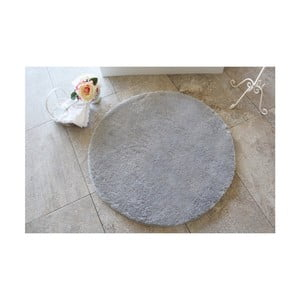 Sivá kúpeľňová predložka Confetti Bathmats Colors of Grey, ⌀90 cm
