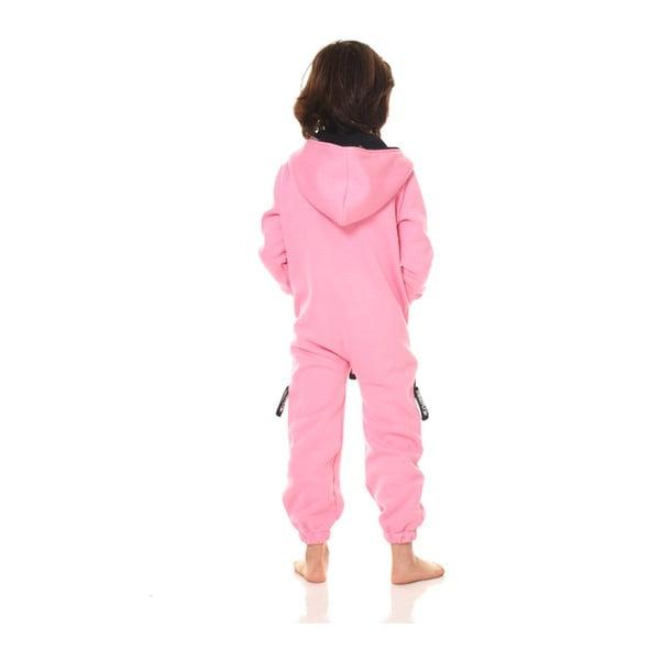 Ružový detský domáci overal Streetfly, pre deti 6-7 rokov
