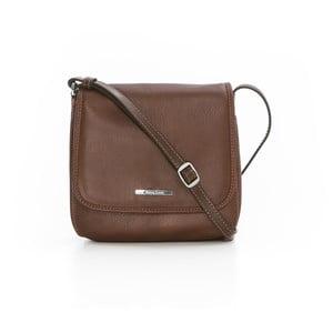 Hnedá kožená kabelka Gianni Conti Pomona