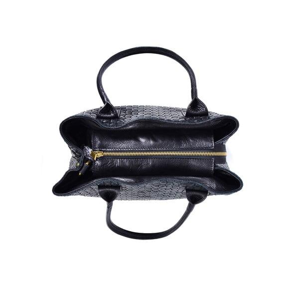 Kožená kabelka Dom, čierna