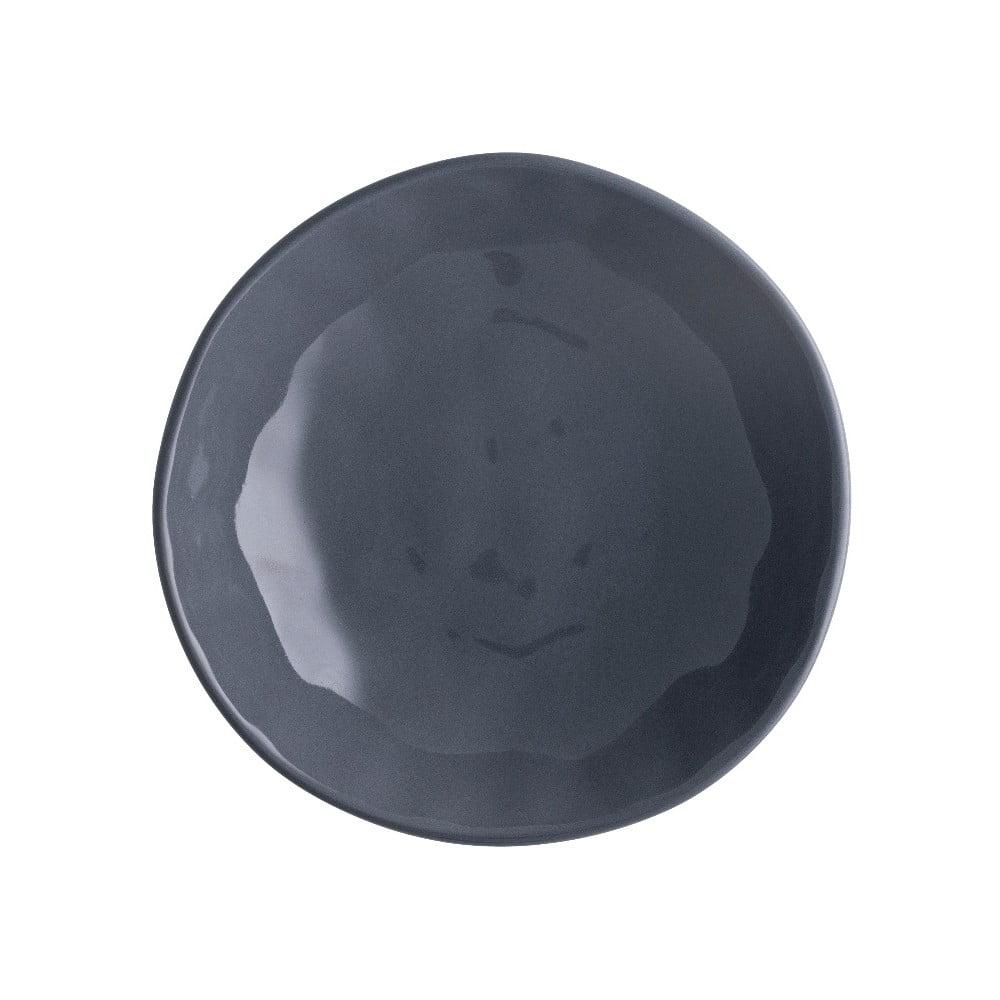 Tmavosivý porcelánový tanier na pizzu Brandani Pizza, ⌀ 20,5 cm