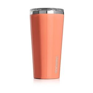 Oranžový cestovný termohrnček Corkcicle Tumbler, 260ml