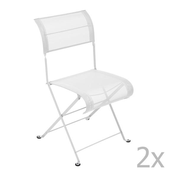 Sada 2 bielych skladacích stoličiek Fermob Dune