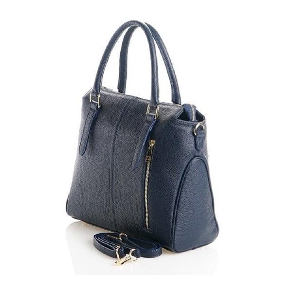Kožená kabelka Konstanc, modrá