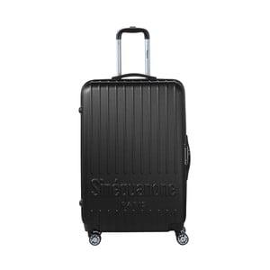 Čierny cestovný kufor na kolieskách s kódovým zámkom SINEQUANONE Rina, 107 l