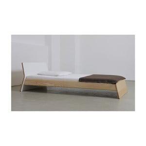 Posteľ z jaseňového dreva Ellenberger design Private Space, 100 x 200 cm