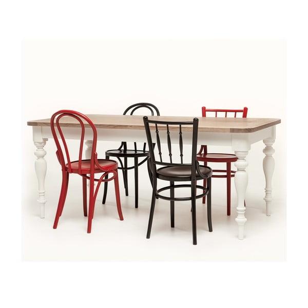 Červená jedálenská stolička Hertford model 6020