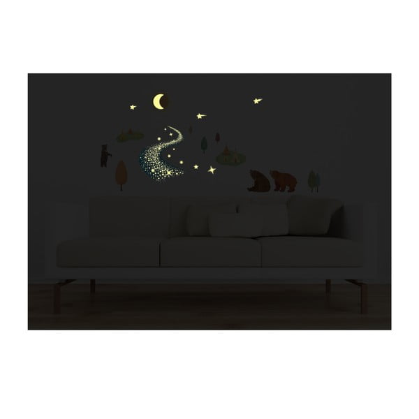 Samolepka svietiaca v tme MaDéco Bears And Tipis