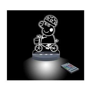 Detské LED nočné svetielko Peppa Pig Bici