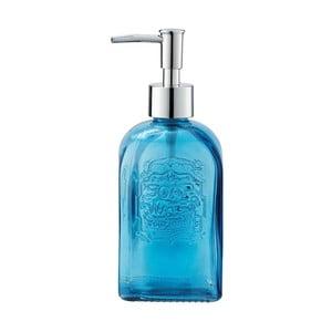 Modrý sklenený dávkovač mydla Wenko Vetro