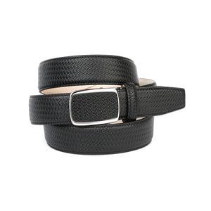 Pánsky kožený opasok 10F10 Black, 90 cm