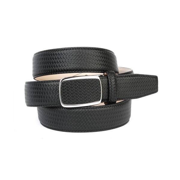 Pánský kožený pásek 10F10 Black, 100 cm