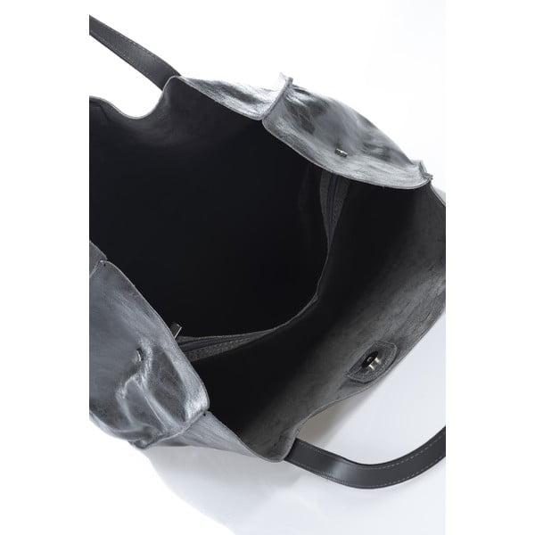 Kožená kabelka Italia 892, sivá