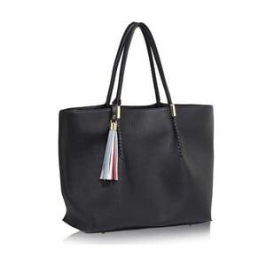 Čierna kabelka L&S Bags Tassel