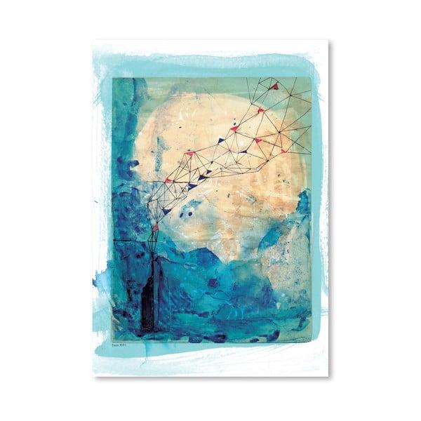Plagát Blue Collage Archival, 30x42 cm