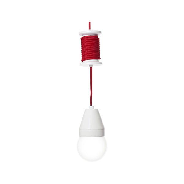 Stropné svetlo Spool, červené