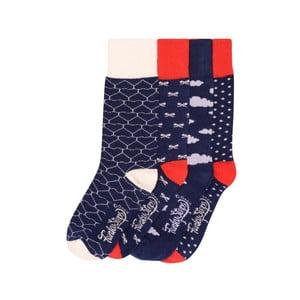 Sada 4 párov farebných ponožiek Funky Steps Daniel, veľ. 35-39