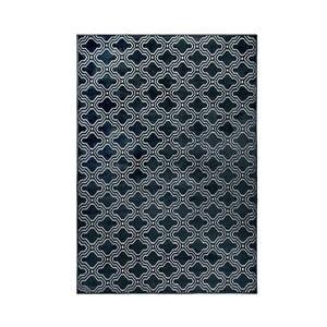 Tmavomodrý koberec White Label Feike, 160 x 230 cm