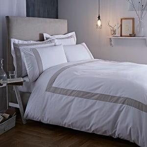 Sivo-biele obliečky Bianca Tailored,135x200cm