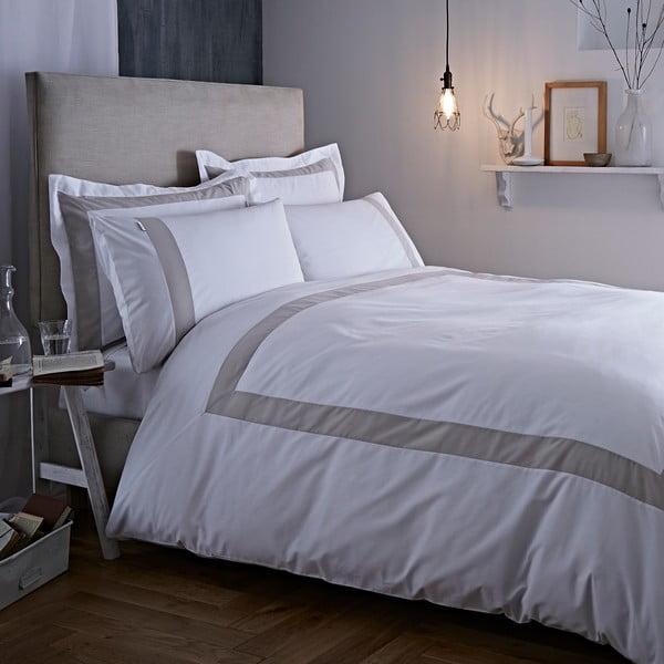 Sivo-biele obliečky Bianca Tailored, 230 x 220 cm
