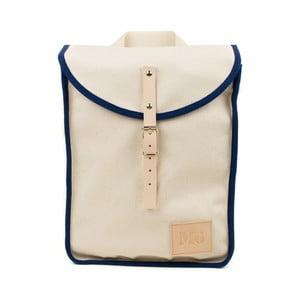 Béžový batoh s tmavomodrým detailom Mödernaked Navy Heap