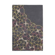vlnený koberec Think Rugs Spectrum Grey Yellow Pink, 120 x 170 cm