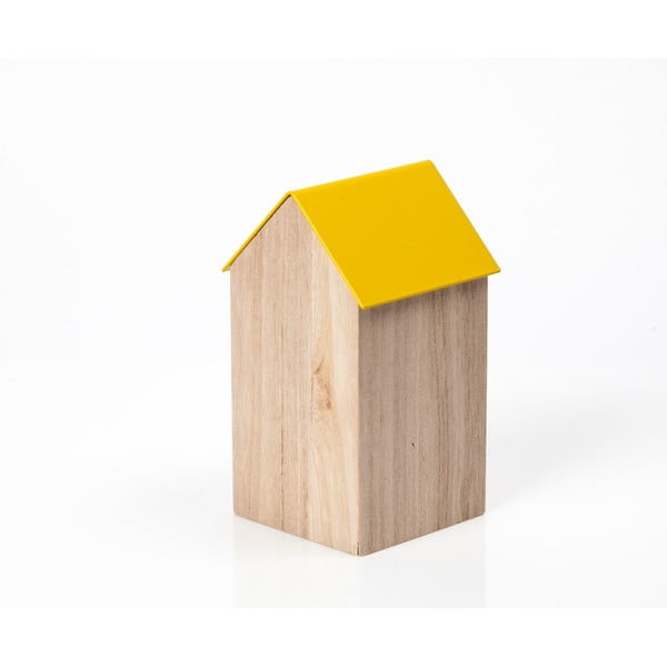 Žltý úložný box House Medium