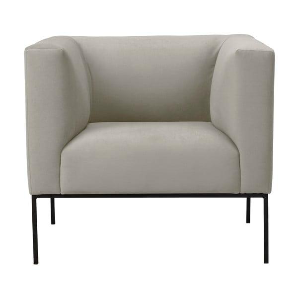 Béžové zamatové kreslo Windsor & Co Sofas Neptune