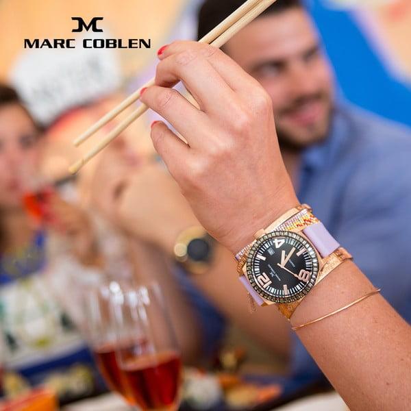 Dámske hodinky Marc Coblen s remienkom a krúžkom na ciferník naviac P85