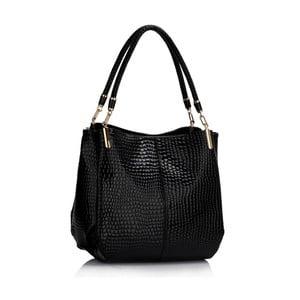 Čierna kabelka L&S Bags Snake Effect