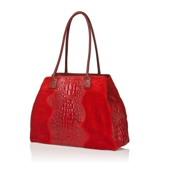 Kožená kabelka Anabela, červená