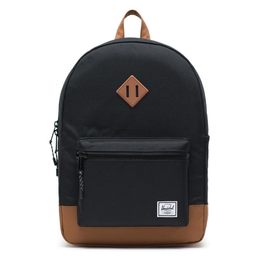 Čierny batoh s hnedými detailmi Herschel Heritage, 19,5 l