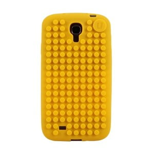 Pixelový obal na Samsung S4, stredne žltá