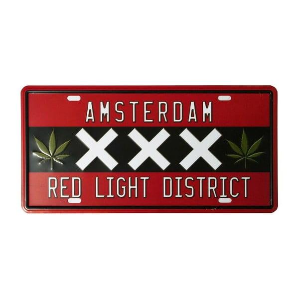 Ceduľa Red Light, 15x30 cm