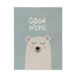 Detský bavlnený ručne vyrobený koberec Naf Naf Good Night, 160×120 cm